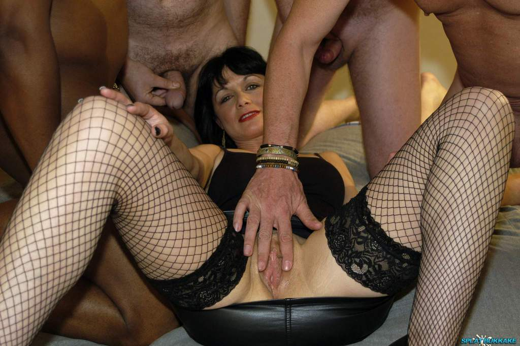 Uk milfs get gangbanged in a swingers club - 3 part 1