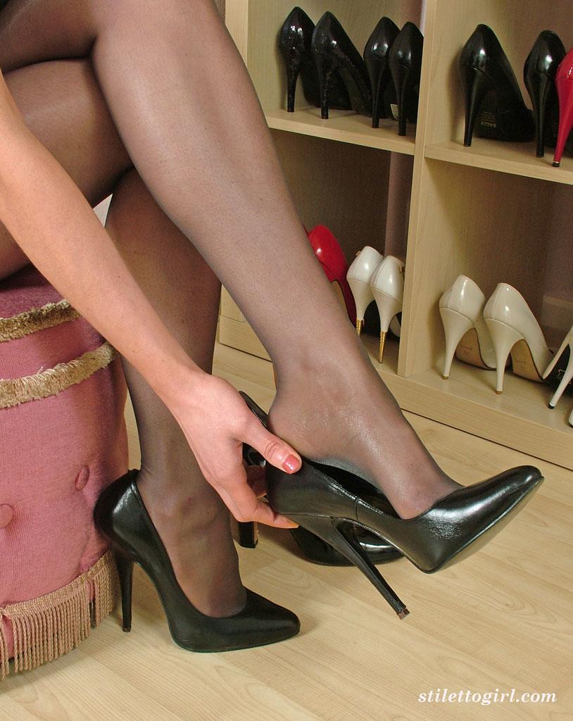 horny girls in heels