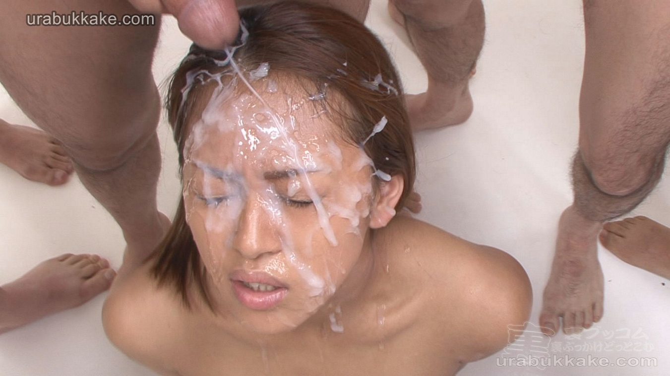 Dyke long hair sensual facial