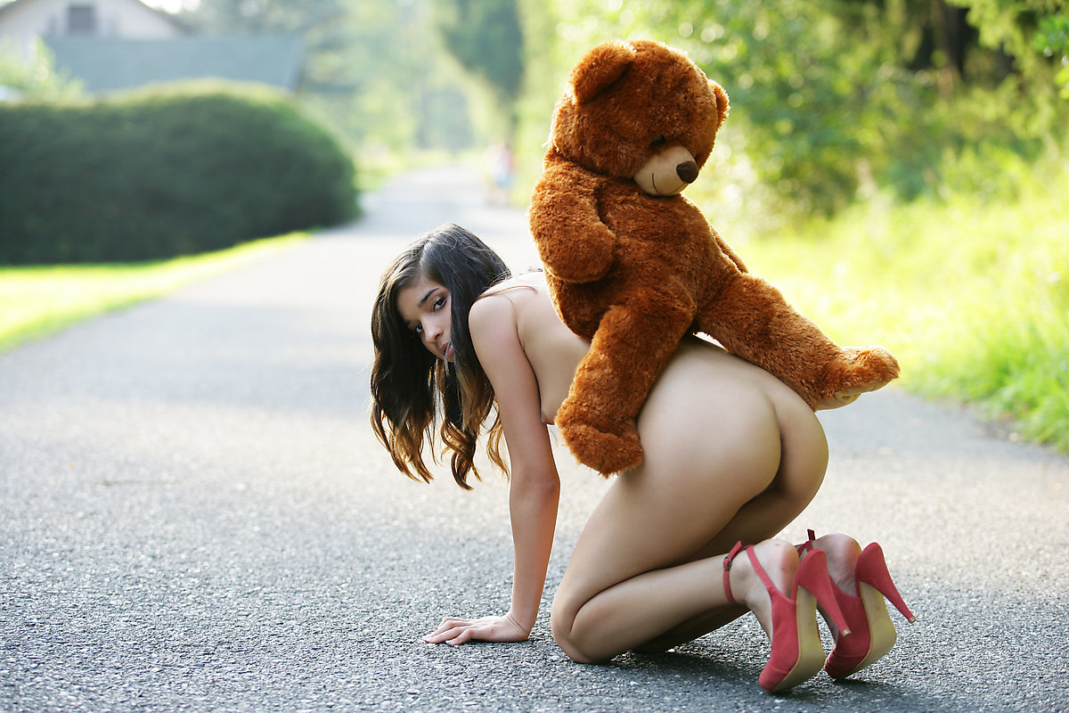 How About A Half Naked Woman And A Bear