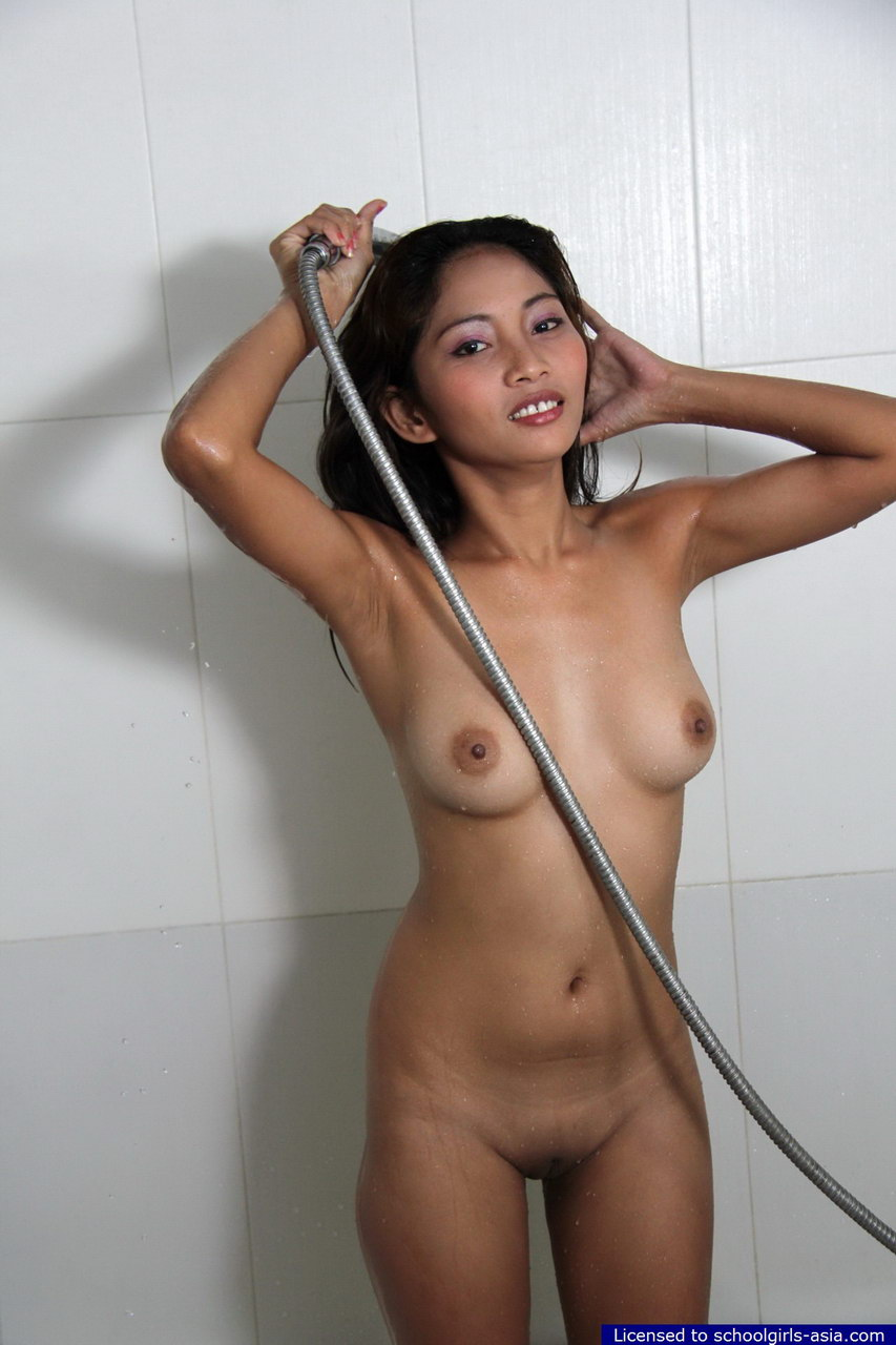 asian girls shower