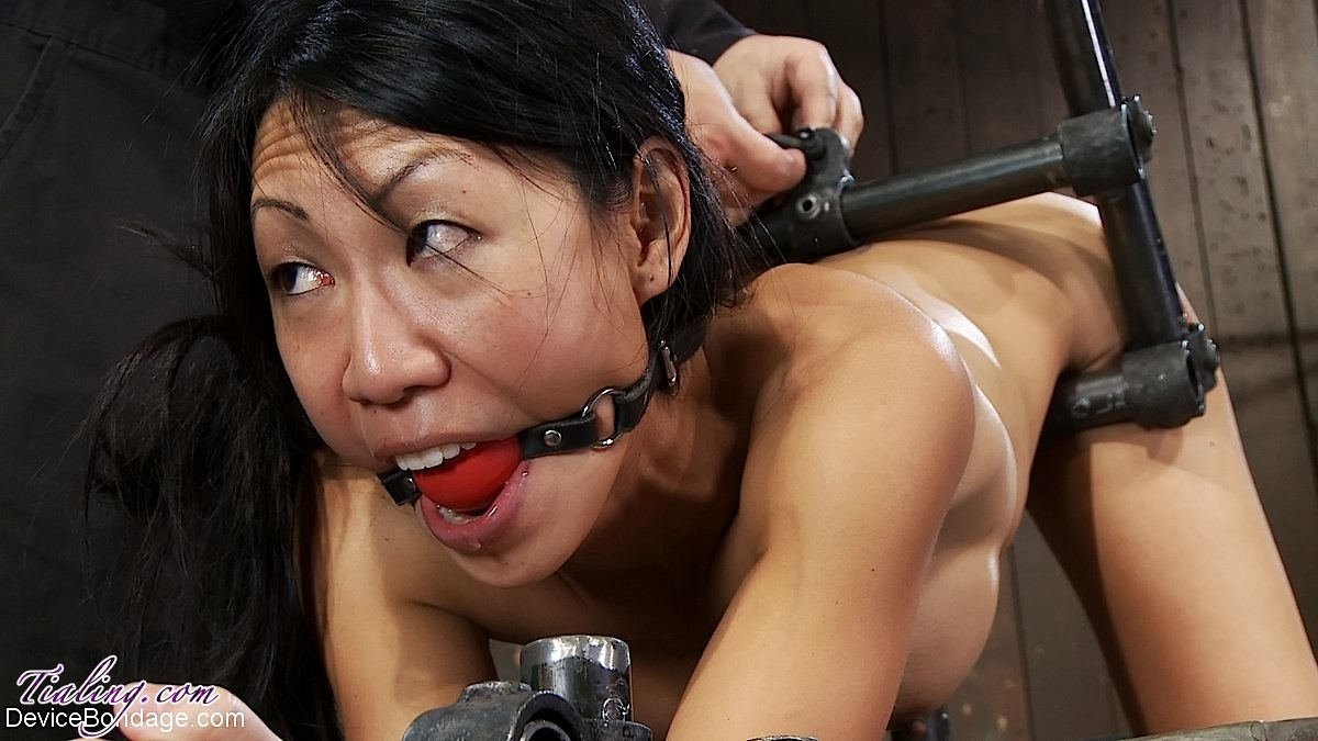 Tied Up Standing Being Fucked By Sex Machine