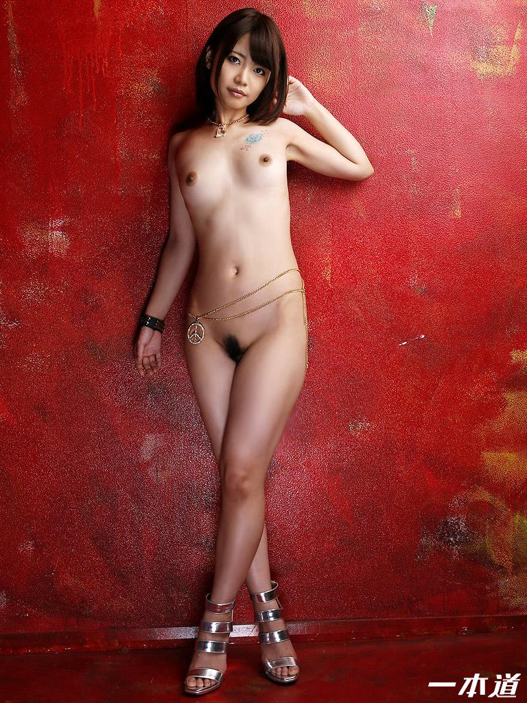 Short hair blonde nude women